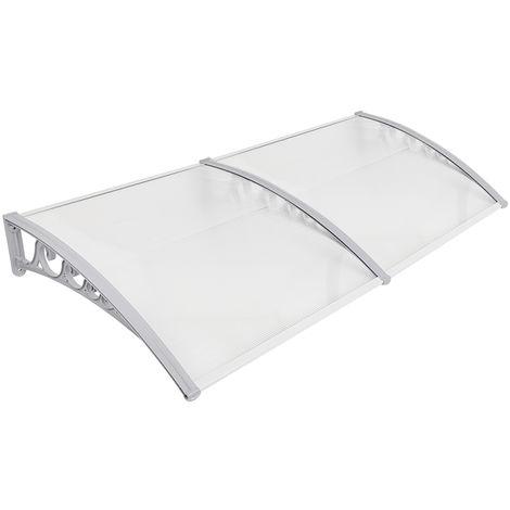 Auvent de porte marquise solaire abri banne marquise d'accueil(100X200cm)