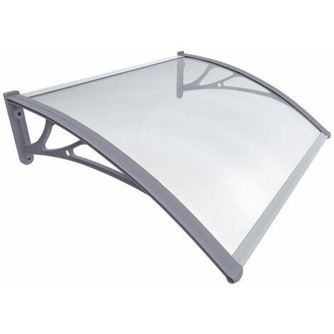 Auvent de porte marquise transparent en Polycarbonate anti UV 200x80cm