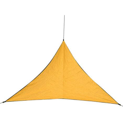 Auvent De Protection Solaire Impermeable Exterieur, Toile De Pluie D'Auvent De Visualisation D'Auvent Triangulaire 6,0 M, Orange