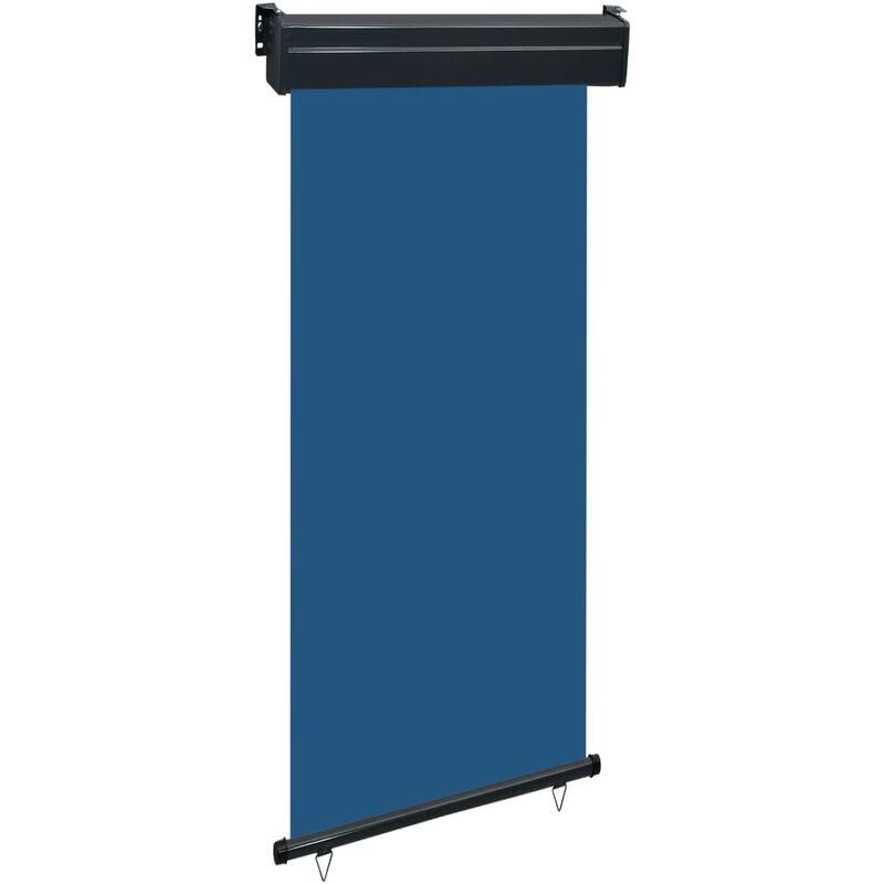 Auvent latéral de balcon 100x250 cm Bleu