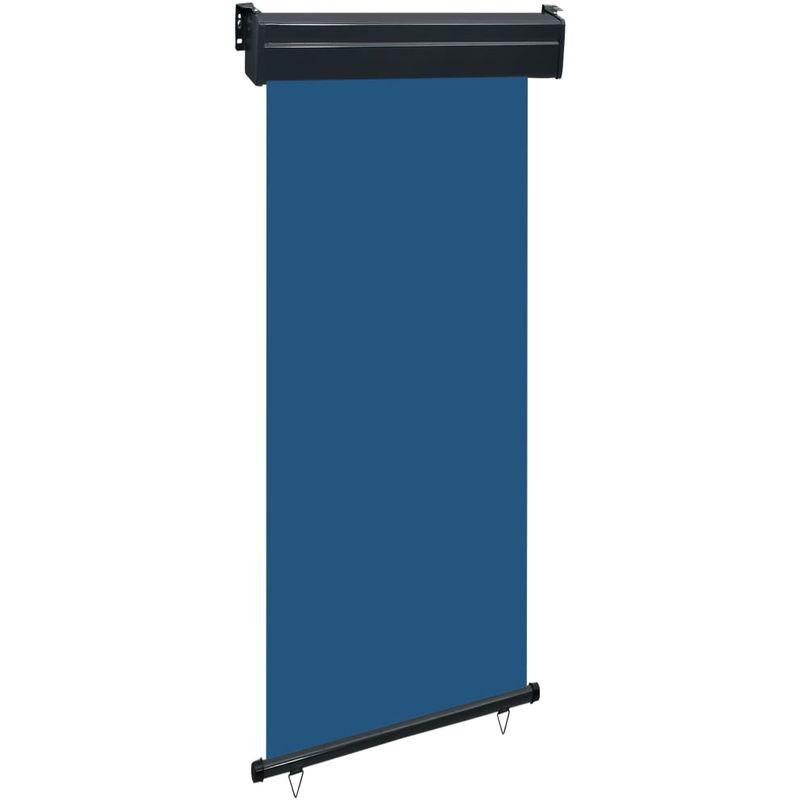 Auvent lateral de balcon 80x250 cm Bleu