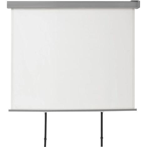 Auvent latéral de balcon multifonctionnel 150 x 200 cm Crème