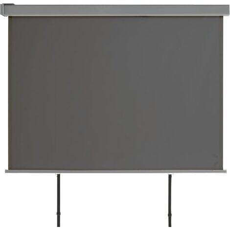 Auvent latéral de balcon multifonctionnel 180 x 200 cm Gris
