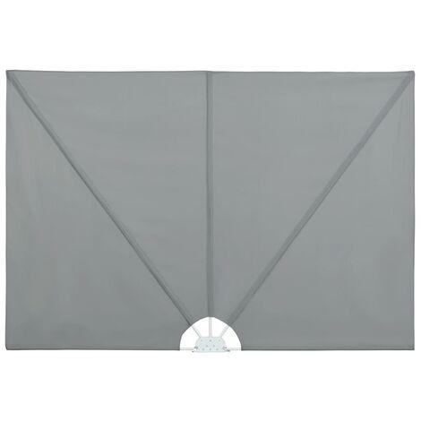 Auvent latéral pliable de terrasse Gris 300 x 150 cm
