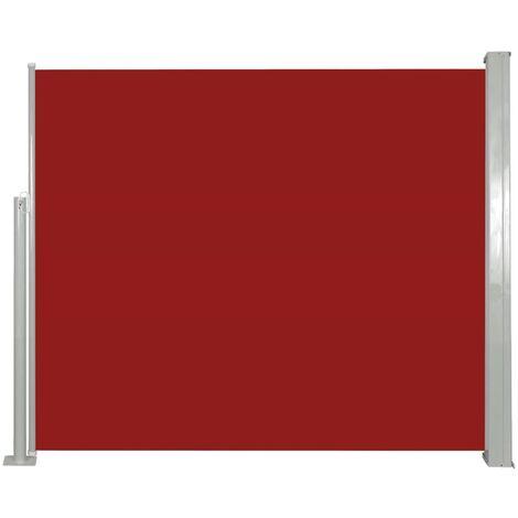 Auvent latéral rétractable 120 x 300 cm Rouge