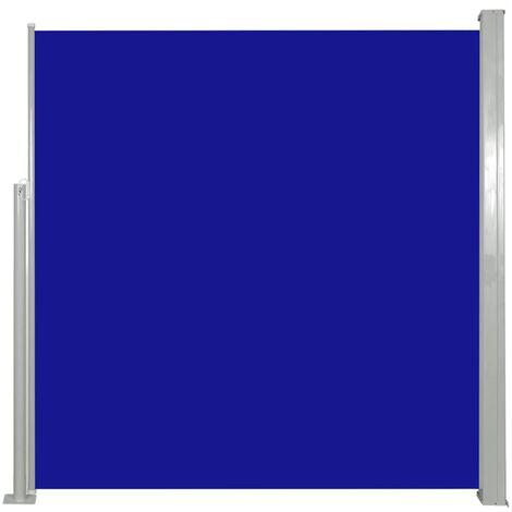 Auvent latéral rétractable 140 x 300 cm Bleu