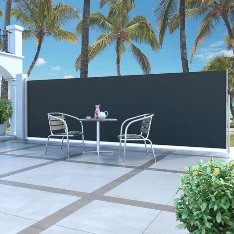 Auvent latéral rétractable 160 x 500 cm Noir