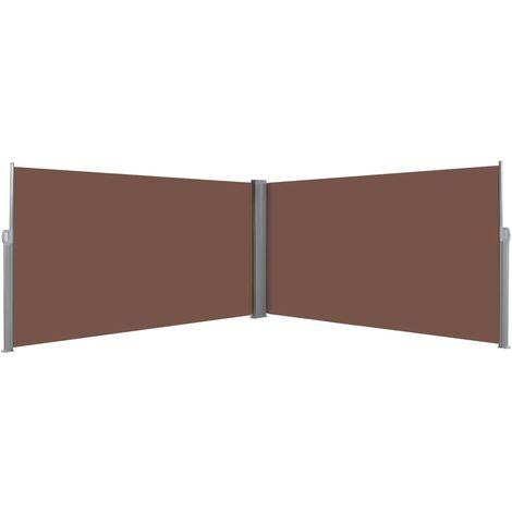 Auvent latéral rétractable 160 x 600 cm Marron