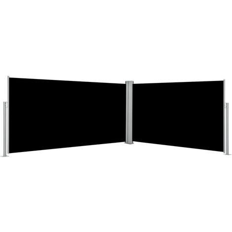 Auvent latéral rétractable 160 x 600 cm Noir