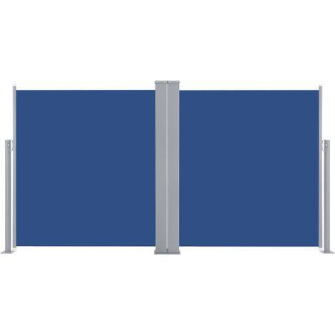 Auvent latéral rétractable 170 x 600 cm Bleu