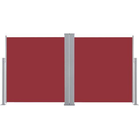 Auvent latéral rétractable 170 x 600 cm Rouge