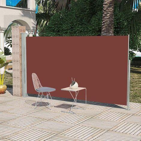 Auvent latéral rétractable 180 x 300 cm Marron