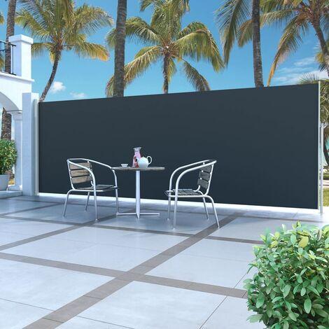 Auvent latéral rétractable 180 x 500 cm Noir