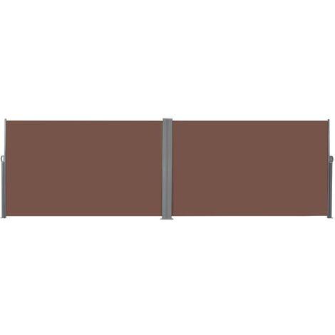 Auvent latéral rétractable 180 x 600 cm Marron