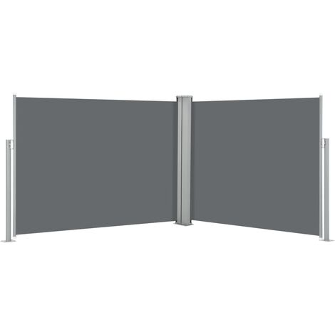 Auvent latéral rétractable Anthracite 170 x 1000 cm