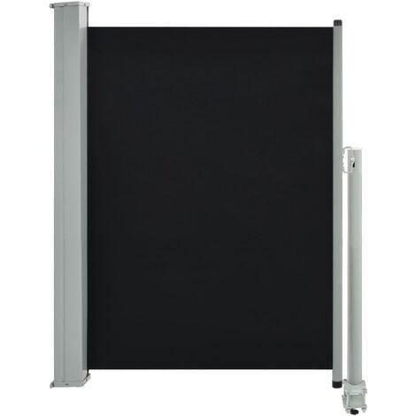 Auvent latéral rétractable de patio 100 x 300 cm Noir