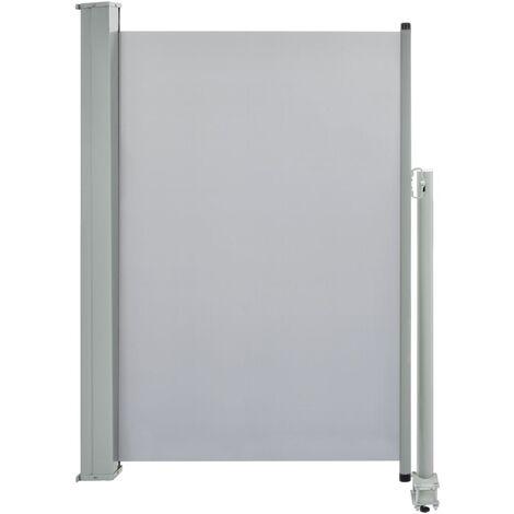 Auvent latéral rétractable de patio 120 x 300 cm Gris