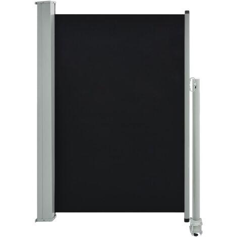 Auvent latéral rétractable de patio 120 x 300 cm Noir