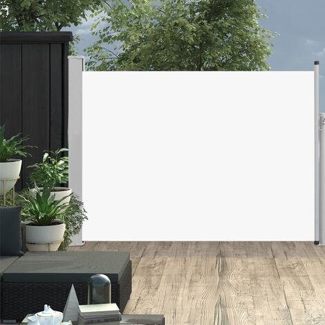 Auvent lateral retractable de patio 120x500 cm Creme