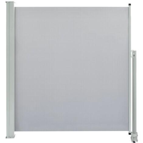 Auvent latéral rétractable de patio 140 x 300 cm Gris