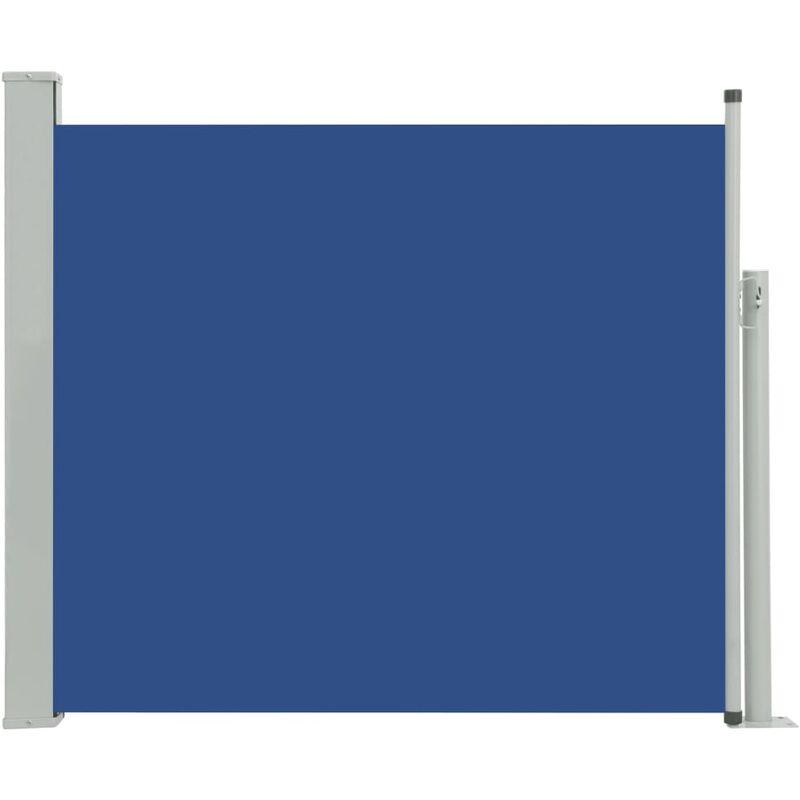 Auvent Latéral Rétractable de Patio Bleu 100x300 cm