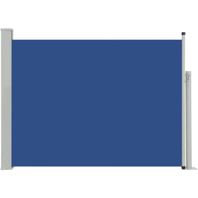 Auvent Latéral Rétractable de Patio Bleu 100x500 cm