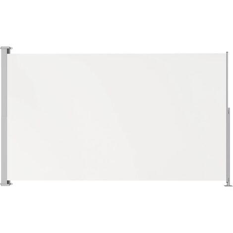 Auvent latéral rétractable de patio 180x300 cm Crème