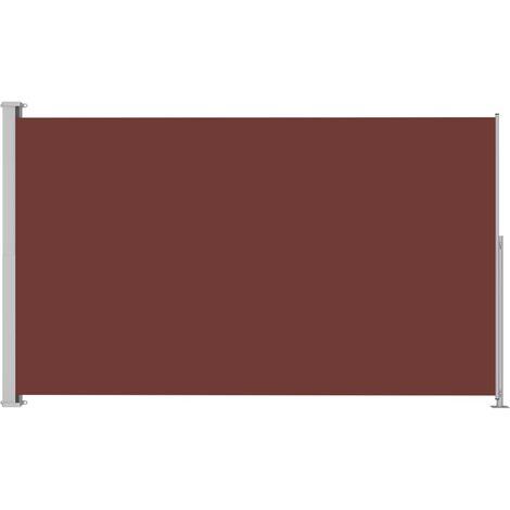 Auvent latéral rétractable de patio 180x300 cm Marron