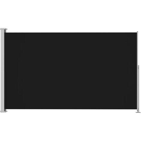 Auvent latéral rétractable de patio 180x300 cm Noir