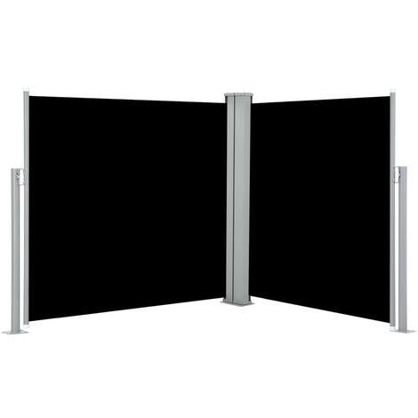 Auvent latéral rétractable Noir 100 x 600 cm
