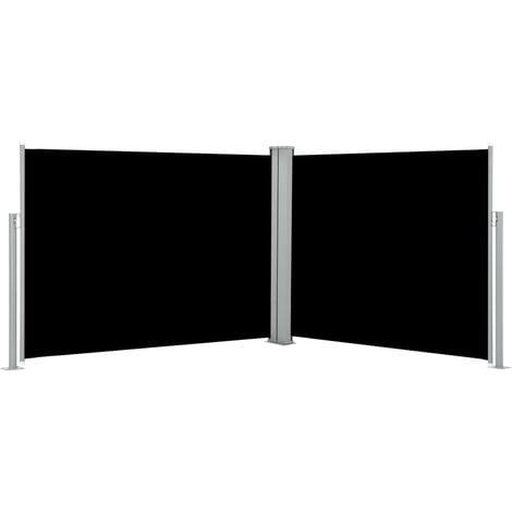 Auvent latéral rétractable Noir 140 x 1000 cm