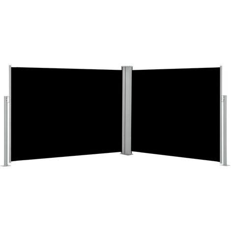 Auvent lateral retractable Noir 140 x 1000 cm