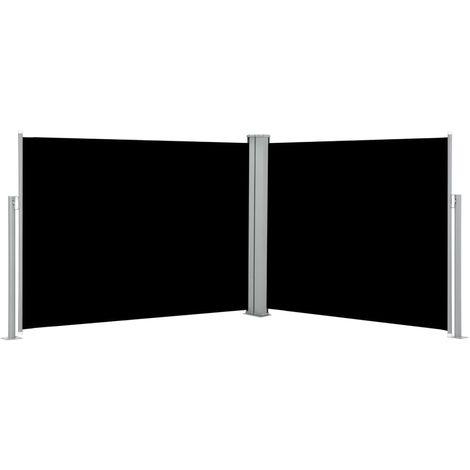 Auvent lateral retractable Noir 170 x 1000 cm