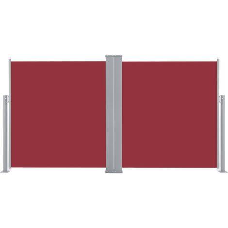 Auvent latéral rétractable Rouge 160 x 600 cm