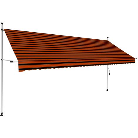 Auvent manuel rétractable 400 cm Orange et marron