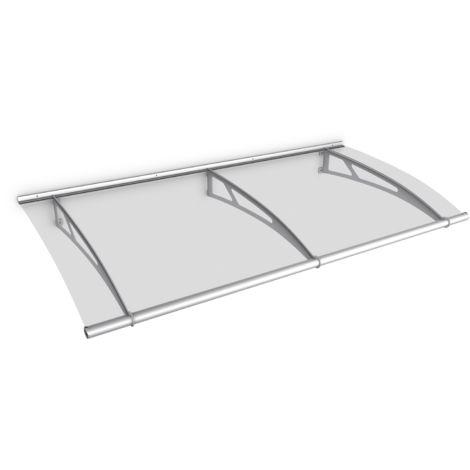 Auvent marquise de porte, 190 x 95 cm, LT-Line, transparent, fixations inox