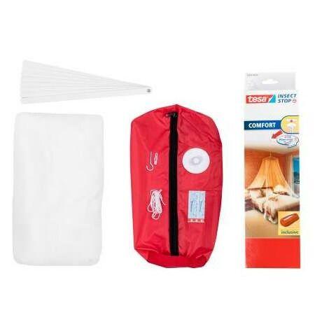 auvent moustiquaire portable sur le 12,5x2,5m lit blanc Tesa 55836-00020-00