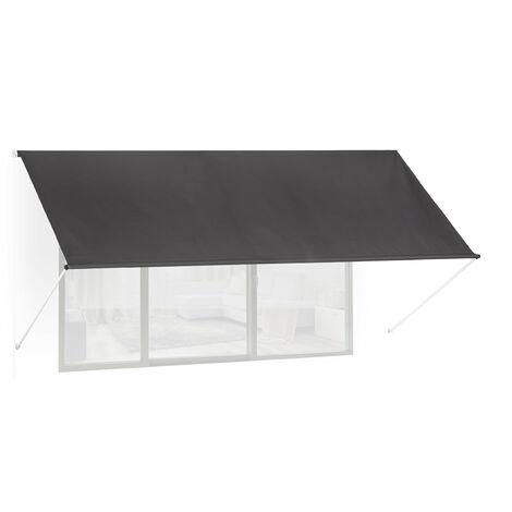 Auvent rétractable, occultant, pour fenêtres, protection contre rayons UV, avec câble tailles, anthracite