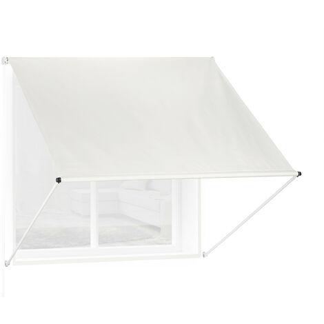 Auvent rétractable, occultant, pour fenêtres, protection contre rayons UV, avec câble tailles, beige