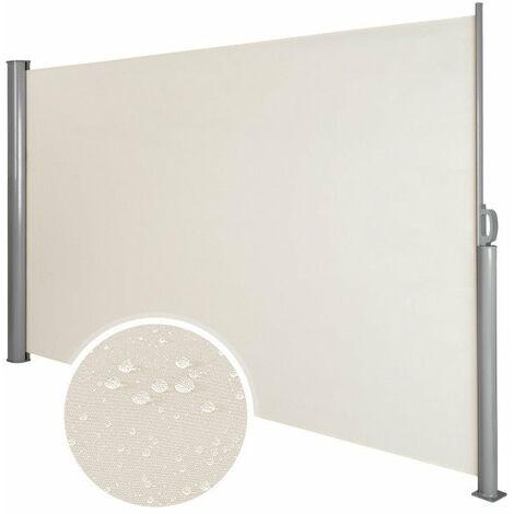 Auvent store latéral brise-vue abri soleil aluminium rétractable 160 x 300 cm beige
