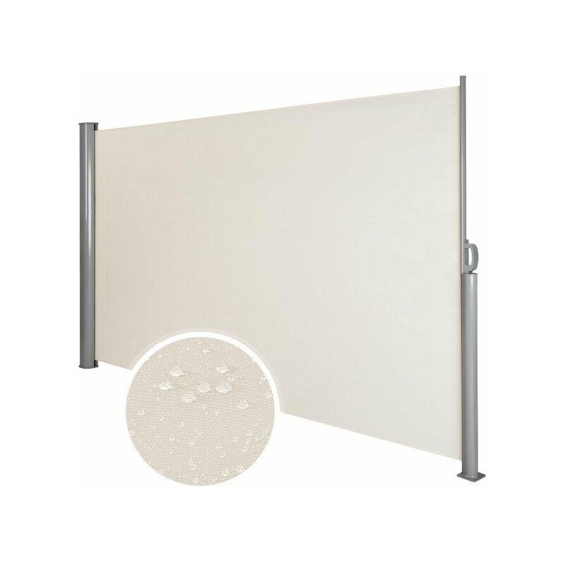 Auvent store latéral brise-vue abri soleil aluminium rétractable 180 x 300 cm beige - Beige
