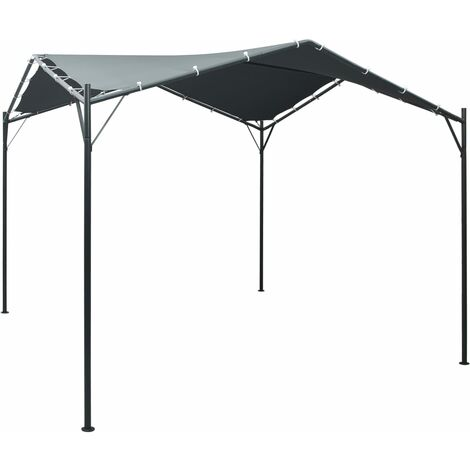 Auvent tente belvédère 3x3 m Acier Anthracite