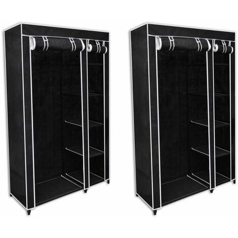 Avelar 110cm Wide Portable Wardrobe by Bloomsbury Market - Black
