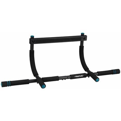 Avento Fitness Doorway Trainer Steel - Black