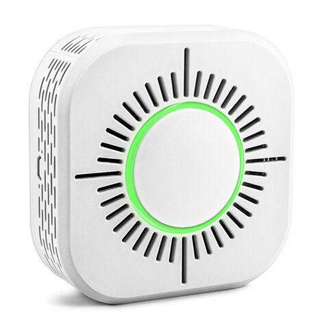 Avertisseur De Fumee Intelligent Wifi, Detecteur D'Incendie, Interrupteur De Liaison Intelligent A Distance, Sans Batterie