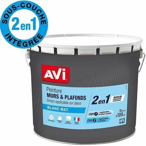 AVI peinture murs et plafonds 2 en 1 10l mat