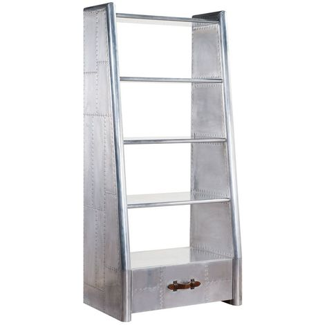 Aviator Aluminium Drawer Bookcase