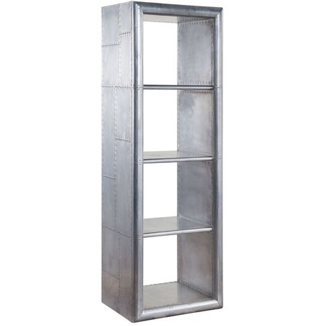 Aviator Aluminium Thin Bookcase