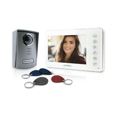 AVIDSEN Interphone vidéo couleur 7 2 fils YLVA 2+ avec lecteur RFID et badges