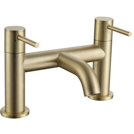 Avion Brushed Brass Bath Filler